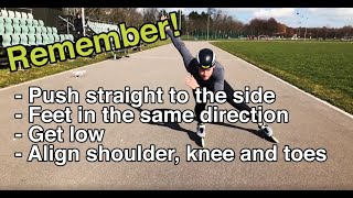 Inline skating - HOW TO PUSH STRONGER? - 5 steps to powerful straight pushing