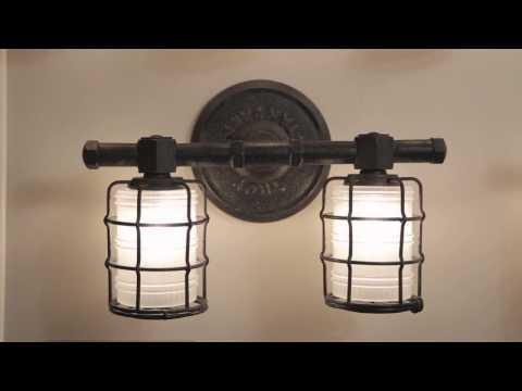 Video for Mercantile Vintage Bronze Four Light Vanity Fixture