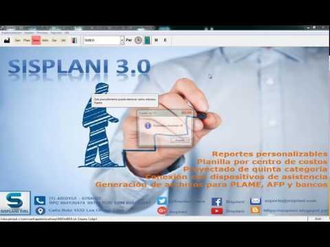 Control de asistencia para remuneraciones 1/2 - Sisplani eirl