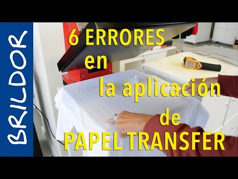 Los 6 errores más comunes en la aplicación del papel transfer