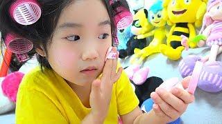 보람이의 화장가방 장난감 메이크업 놀이 Boram Dress Up and New Make Up toys