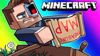Minecraft Funny Moments - Finding a Canadian Treasure Map!