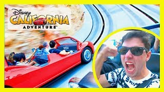 MAN FREAKS OUT FIRST TIME ON RADIATOR SPRINGS RACERS IN CARS LAND | Disneyland Vlog  Day 3
