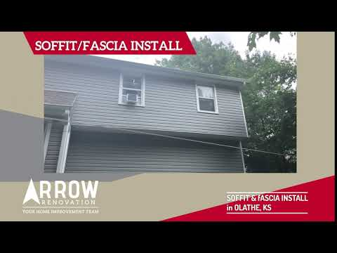 Olathe, KS Home Receives New Soffit and Fascia