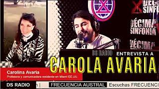 🔴 FRECUENCIA AUSTRAL ❌Hoy conversamos desde Estados Unidos con Carolina Avaria.