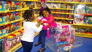 Toys AndFun Sisters Doing Shopping At The Supermarket  Compilation