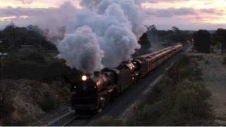 preview picture of video 'R707-R761 Castlemaine Sat 13/06/09'