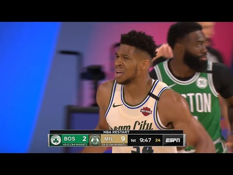 CELTICS vs BUCKS – 1st Qtr Highlights | NBA Restart
