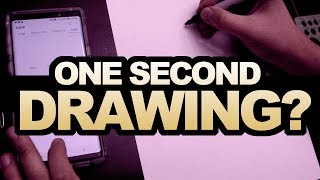 ONE SECOND DRAWING? Drawing The Iron Giant in  1hr 10m 1m 10s & 1s