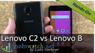 Lenovo C2 Vs Lenovo B: Cheap Phones Comparison | Hands-on Video Review