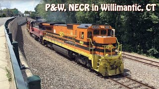 Providence & Worcester NR-4, New England Central Freight Trains Through Willimantic, CT