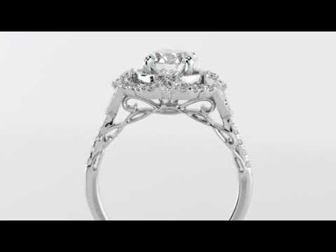 Delicate Halo Engagement Rings