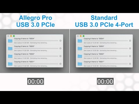 Sonnet Allegro Pro USB 3.0 PCIe Card Transfer Speed Comparison Test