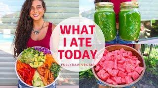 WHAT I ATE TODAY    Raw Vegan Summer Recipes...Tea & Shrooms?