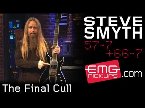 In a play-through video for EMG Pickups, performing The Final Cull from One Machine, demonstrating the 57-7/ 66-7 pickups.