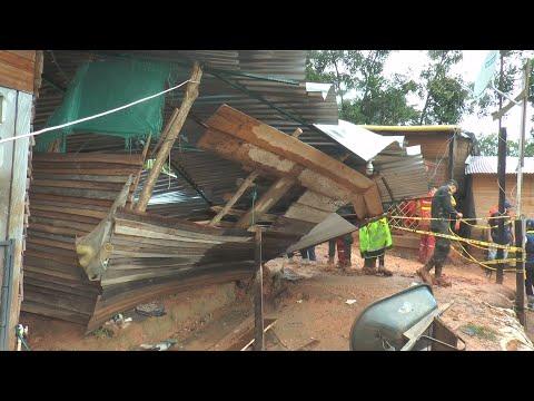 Deslizamiento en Santander sepulta tres casas y deja nueve muertos