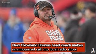 Listen: New Cleveland Browns coach Freddie Kitchens makes unannounced call into 92.3 The Fan