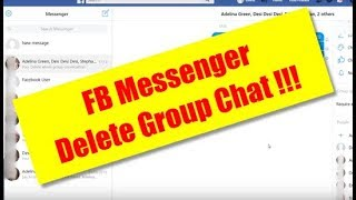 How to Delete Facebook Messenger Whole Group Chat Conversation Permanently