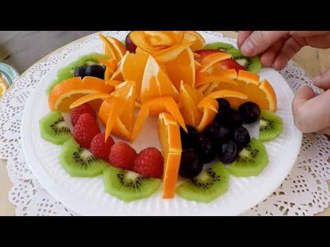 decoration avec des fruits frais