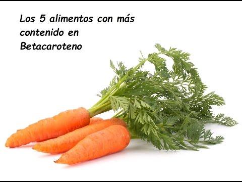 Los cinco alimentos con más betacaroteno