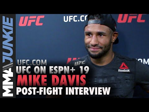 UFC Tampa: Mike Davis post fight interview