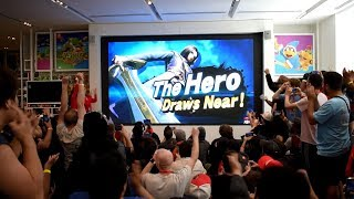 The Hero from Dragon Quest Reveal for Super Smash Bros. Ultimate Live Reactions at Nintendo NY