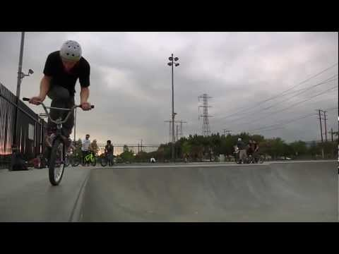 BMX High Speed Skatepark Riding - Kris Fox