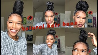 "<center><p>Sleek High Bun | Natural Hair</p></center>"" />             </div>   </div>   <div class="