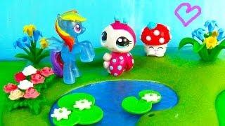 MLP Shopkins Rainbow Dash LPS - Love You Dots - Littlest Pet Shop My Little Pony Play