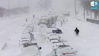 Ураган в Астане. Казахстан метель! Буран Снег Сильный ветер Шторм. Астана УРАГАН БУРАН МЕТЕЛЬ