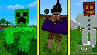 ТОП 10 САМЫХ СТРАШНЫХ МОНСТРОВ В МАЙНКРАФТ ПЕ ! Мутанты обзор мода и карта Minecraft Pocket Edition