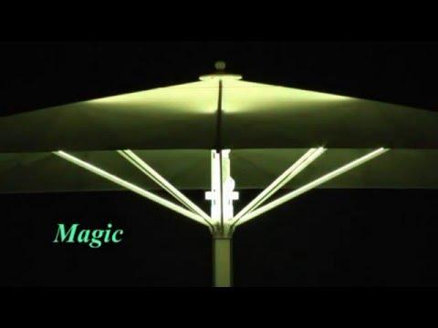 Ombrelloni Ho.Re.Ca con illuminazione LED RGB