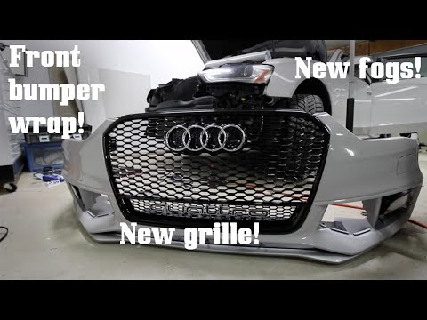 New Quattro Grille, Fogs, and Front Bumper Wrap on my S4