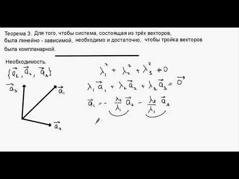 Линейная зависимость и  линейная независимость  векторов.