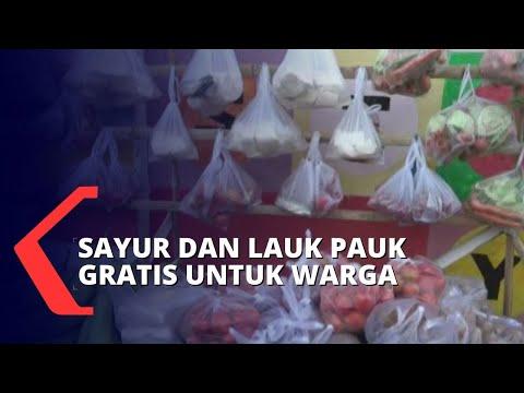 pasar gratis inisiatif warga demi bantu warga terdampak pandemi