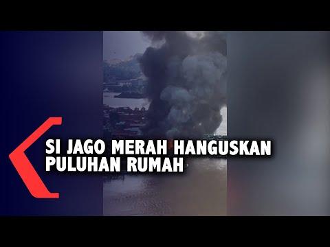 Puluhan Rumah Di Samarinda Hangus Terbakar