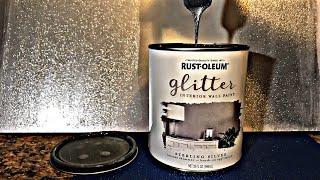 STERLING SILVER Glitter RUSTOLEUM PAINT!!!