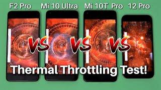 iPhone 12 Pro Vs Mi 10T Pro Vs Mi 10 Ultra Vs Poco F2 Pro Thermal Throttling Test!
