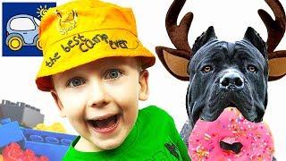 🍩 ЛОСЬ СЪЕЛ всю нашу еду Ловим рыбу БОТИНКОМ 🍪 ЛЕГО в реальной жизни Видео для детей Картонка топ
