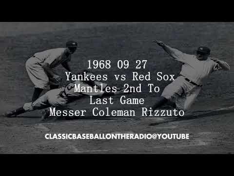 1968 09 27 Yankees vs Red Sox Mantles 2nd To Last Game
