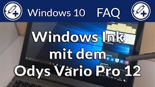 Windows Ink und das Odys Vario Pro 12