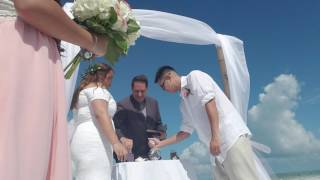 Couples Exchanges Vows in St Petersburg, FL with Dogs as Ring Bearer and Flower Girl