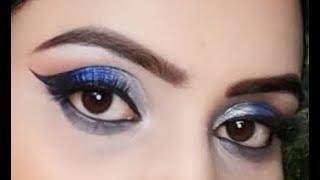 Blue  Glam Makeup, Blue Eyes Makeup For Blue Dress,party Makeup,wedding Makeup,guest Makeup ,