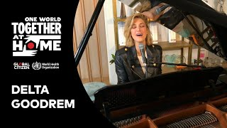 """Delta Goodrem performs """"Together We Are One"""" 