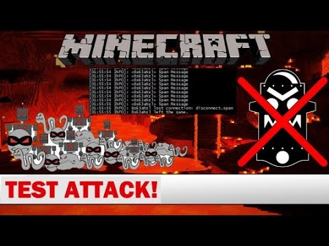 Minecraft MCSpam Vs  AntiBotDeluxe [High CPU & Bypass Joined Bots