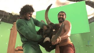 Making of Bahubali VFX    Bhallaladeva's(Rana) bull fight sequence VFX Breakdown   HD 720p