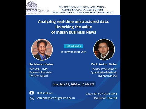 Analyzing real-time unstructured data: Unlocking the value of Indian Business News