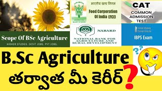 Carrer After Bsc Agriculture In India Telugu | Bsc Agriculture | Jobs