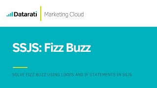 Solving the Fizz Buzz (SSJS) in Salesforce Marketing Cloud