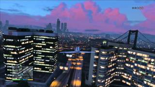 GTA 5 (Beautiful Night Flight with a Jet) PS3 HD